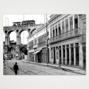 Painel Modular – Rua do Riachuelo com Arcos da Lapa – Ano 1912
