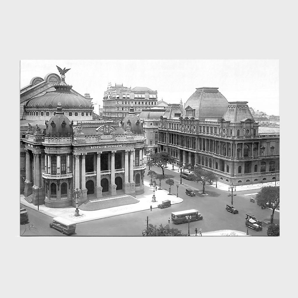 Jogo Americano - Teatro Municipal e Museu de Belas Artes - Ano 1930