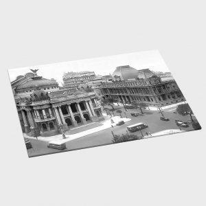 Jogo Americano – Teatro Municipal e Museu de Belas Artes – Ano 1930