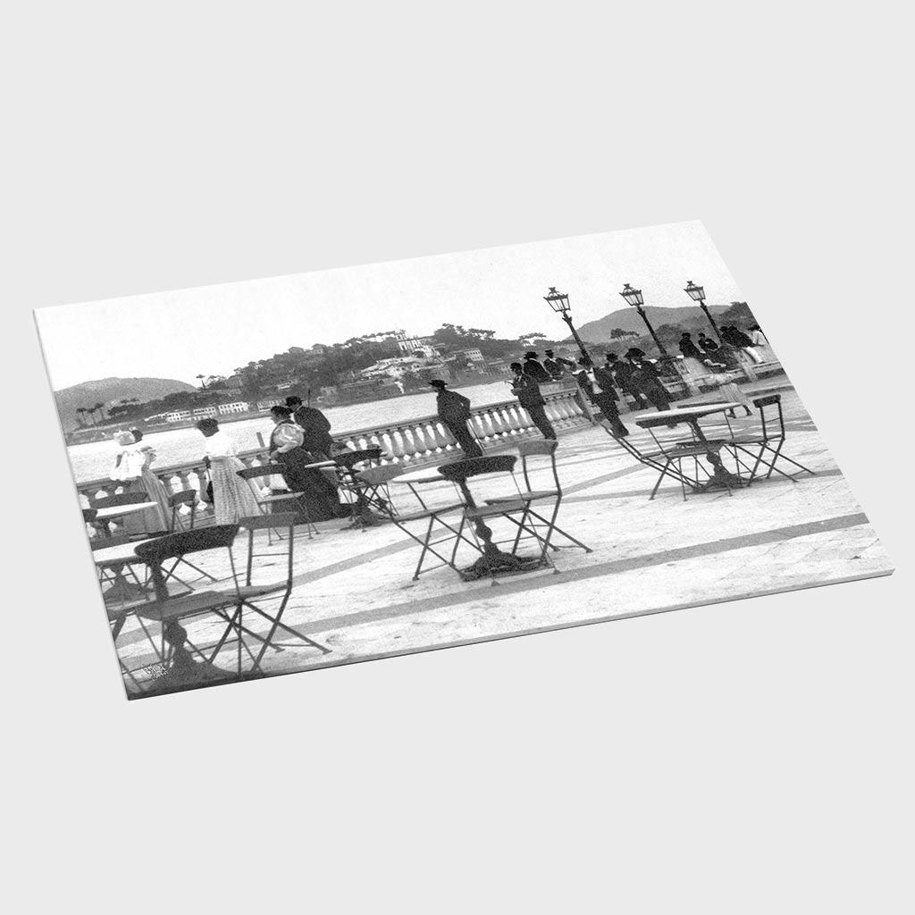 Jogo Americano - Vista do Passeio Publico - Ano 1922