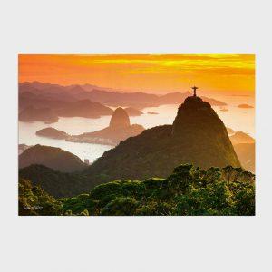 Painel – Floresta da Tijuca, Cristo e Pão de Açúcar