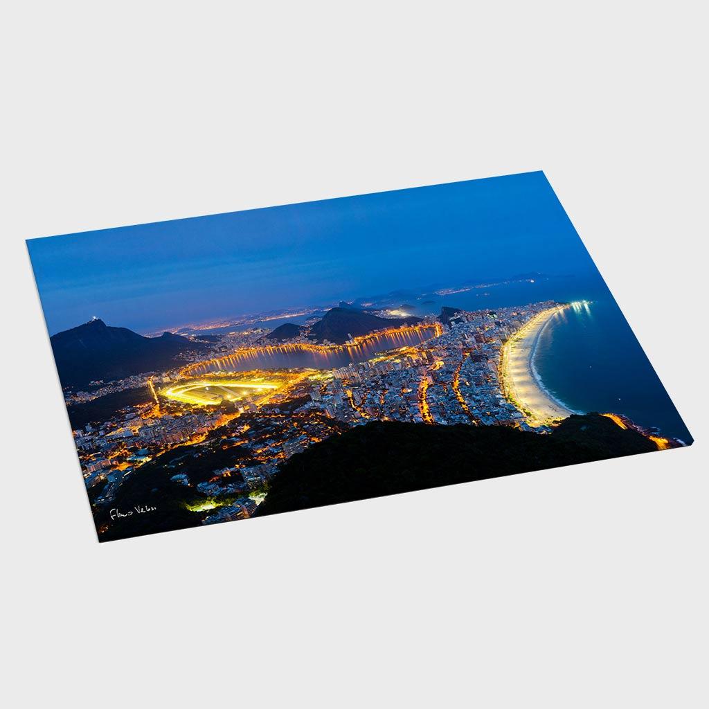 Jogo Americano - Zona Sul do Rio de Janeiro Vista do Alto do Dois Irmãos