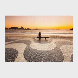 Painel – Amanhecer em Copacabana com Drummond