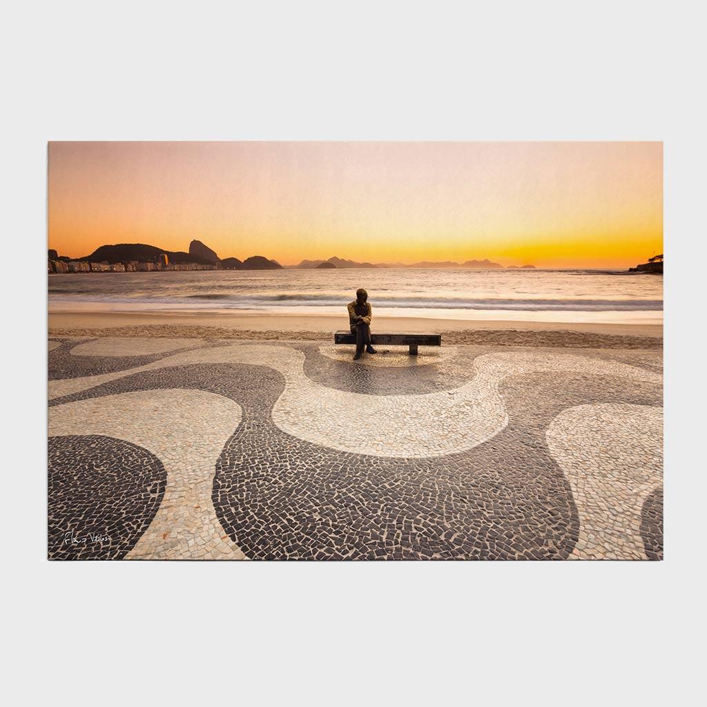 Painel - Amanhecer em Copacabana com Drummond