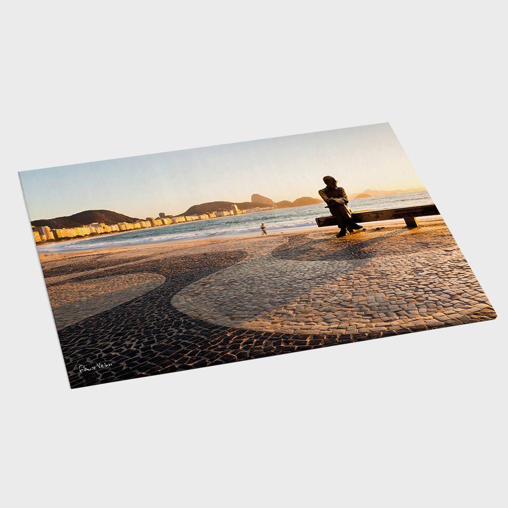 Painel - Amanhecer em Copacabana com Drummond II