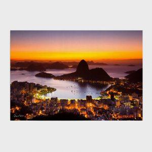 Painel – Amanhecer no Rio de Janeiro com Pão de Açúcar