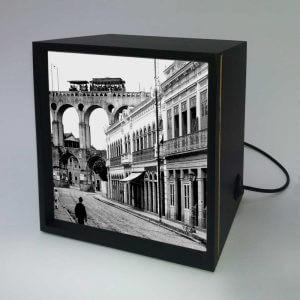 Backlight – Rua do Riachuelo com Arcos da Lapa – Ano 1912