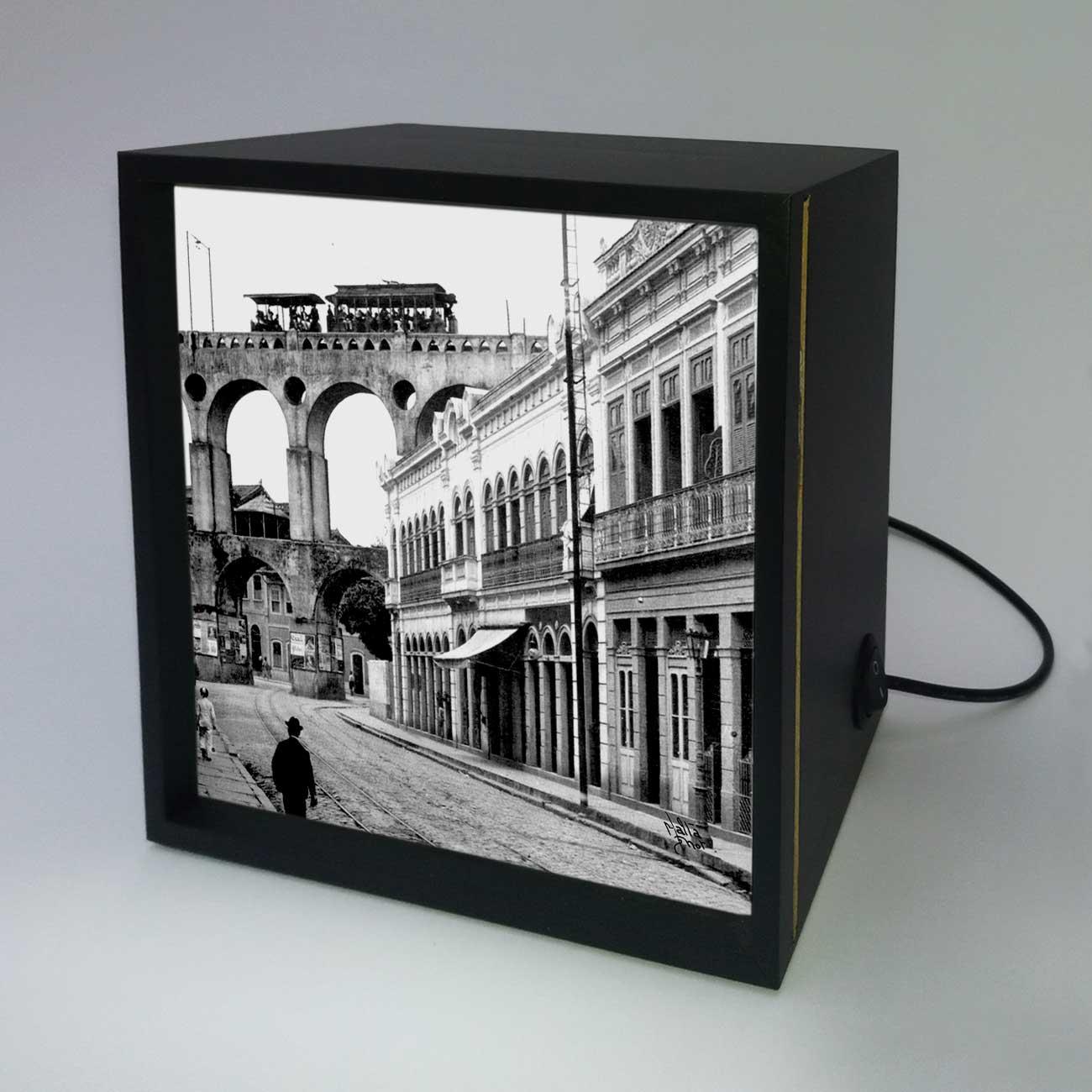 Backlight - Rua do Riachuelo com Arcos da Lapa - Ano 1912