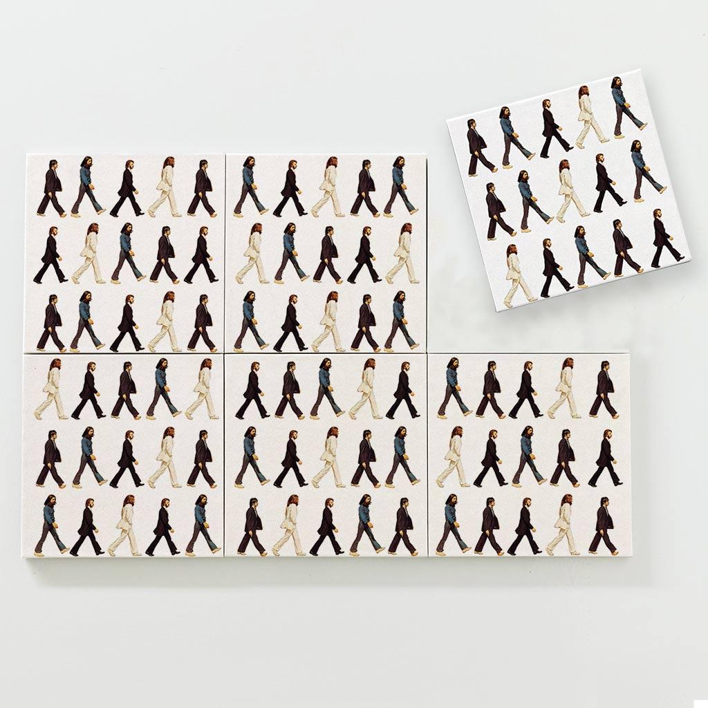 Porta Copo Magnético Modular - Pattern Beatles