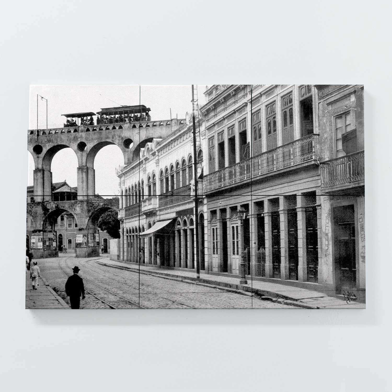 Porta Copo Magnético Modular - Rua do Riachuelo com Arcos da Lapa - Ano 1912