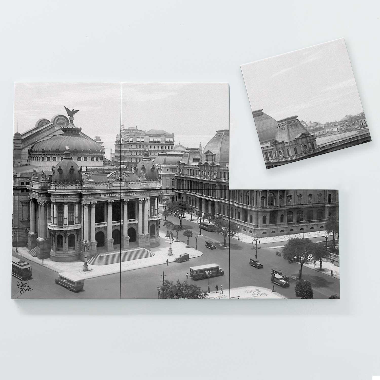 Porta Copo Magnético Modular - Teatro Municipal e Museu de Belas Artes - Ano 1930