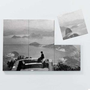Porta Copo Magnético Modular – Vista do Corcovado – Ano 1910