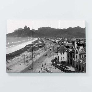 Porta Copo Magnético Modular – Praias de Ipanema e Leblon – Ano 1929