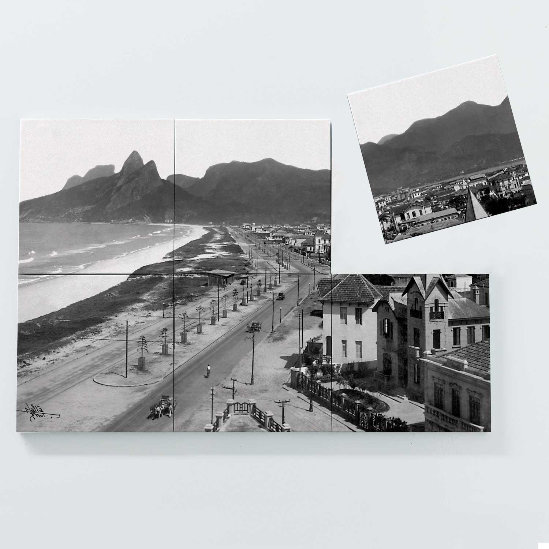 Porta Copo Magnético Modular - Praias de Ipanema e Leblon - Ano 1929