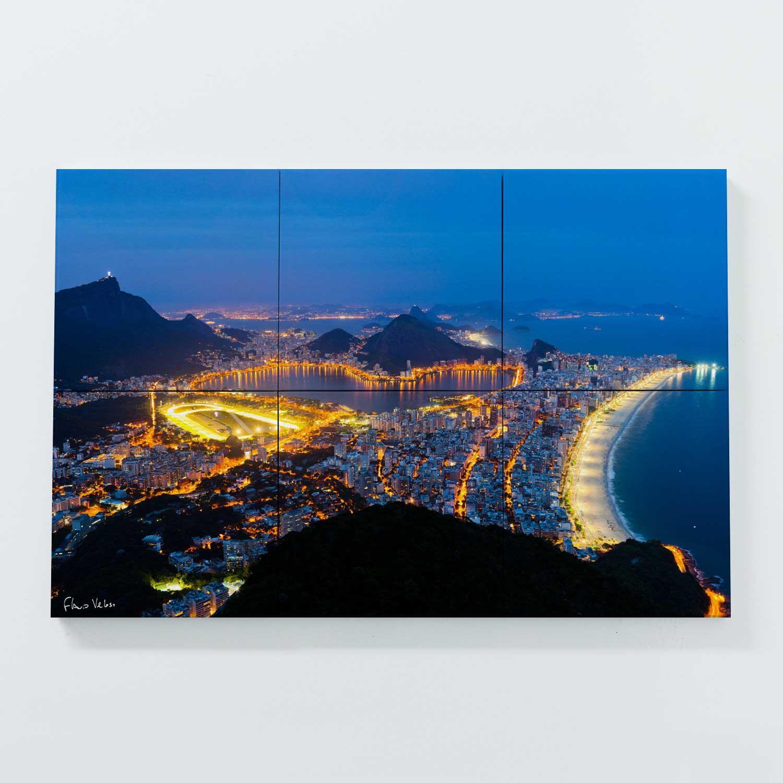 Porta Copo Magnético Modular - Zona Sul do Rio de Janeiro Vista do Alto do Dois Irmãos