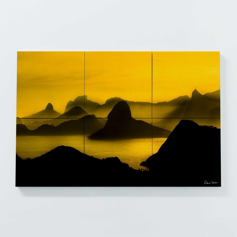 Porta Copo Magnético Modular - O Poente na Espinha de suas Montanhas, Rio de Janeiro