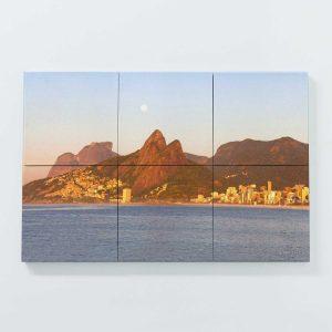Porta Copo Magnético Modular – Pedra da Gávea, Dois Irmãos e Praia do Leblon