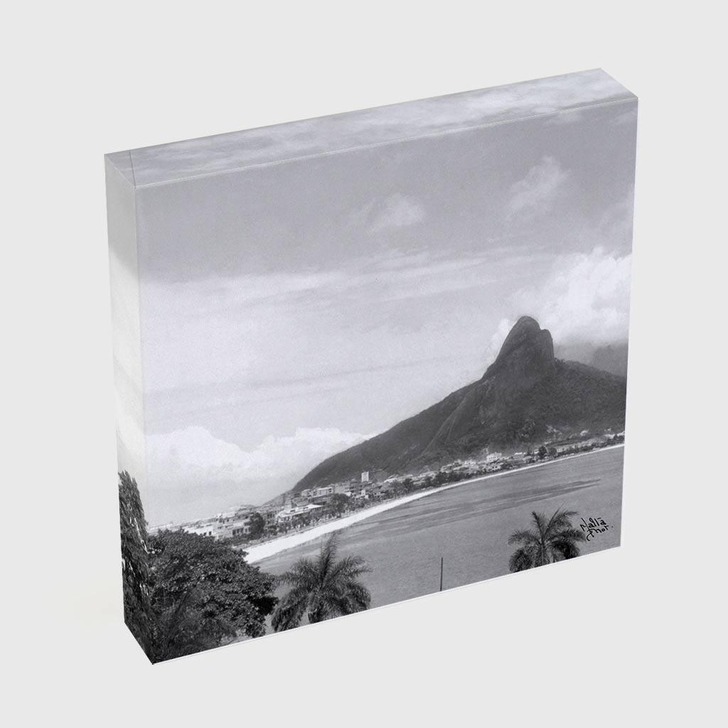 Quadro Quadrado - Lagoa Rodrigo de Freitas -  Ano 1937