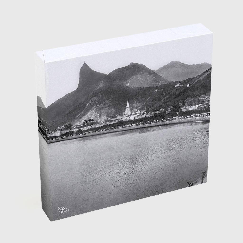 Quadro Quadrado - Enseada de Botafogo - Ano 1920 - 2