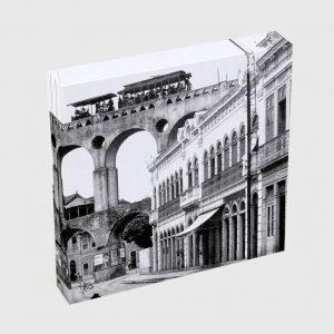 Quadro Quadrado – Rua do Riachuelo com Arcos da Lapa – Ano 1912