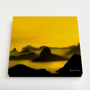 Quadro Quadrado – O Poente na Espinha de suas Montanhas, Rio de Janeiro