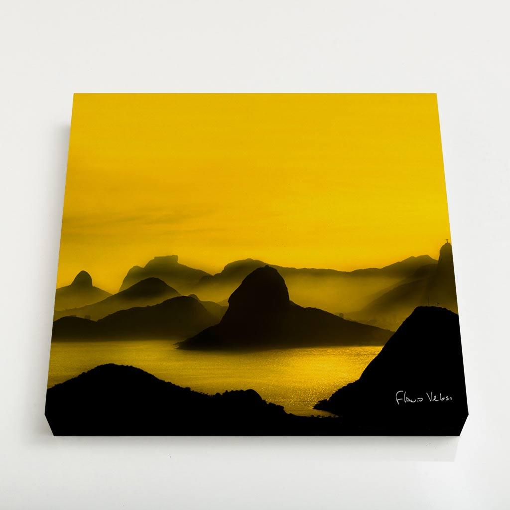 Quadro Quadrado - O Poente na Espinha de suas Montanhas, Rio de Janeiro