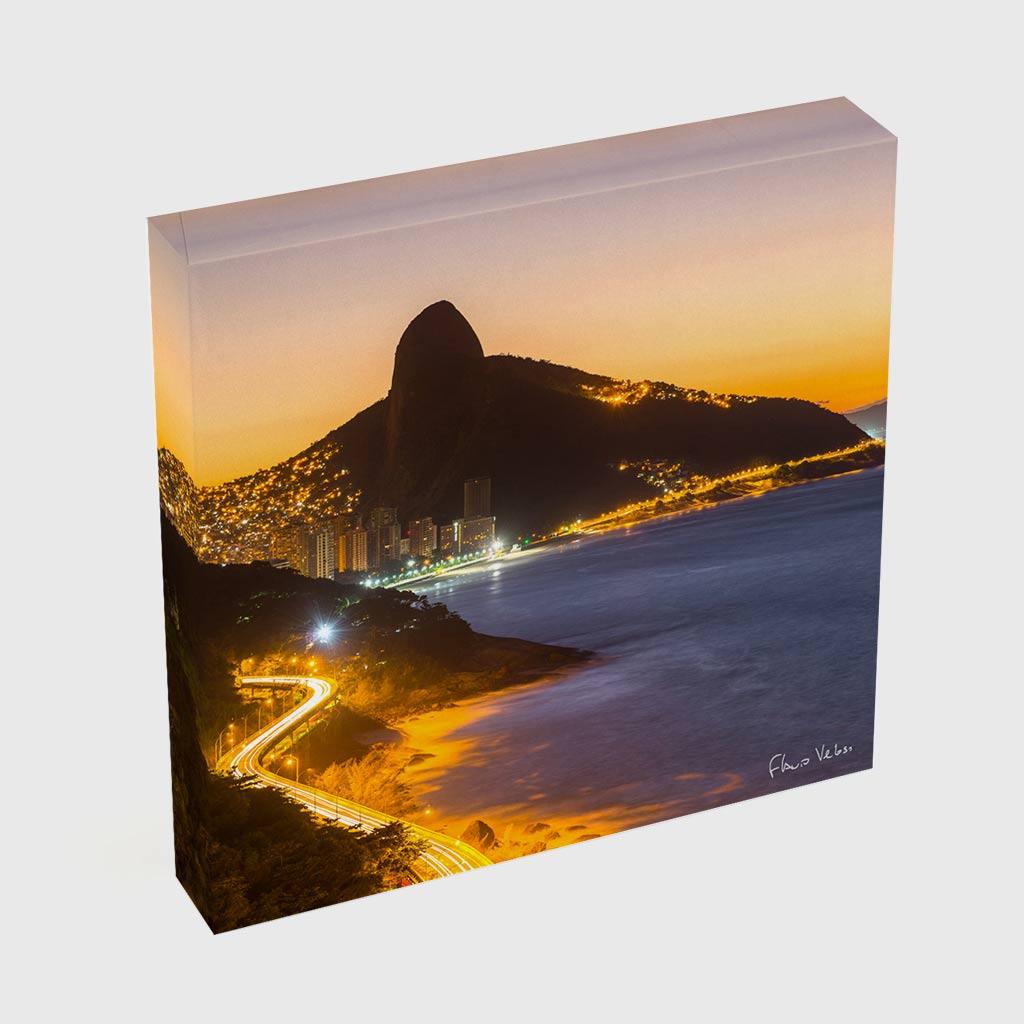 Quadro Quadrado - Avenida Niemeyer e Morro Dois Irmãos