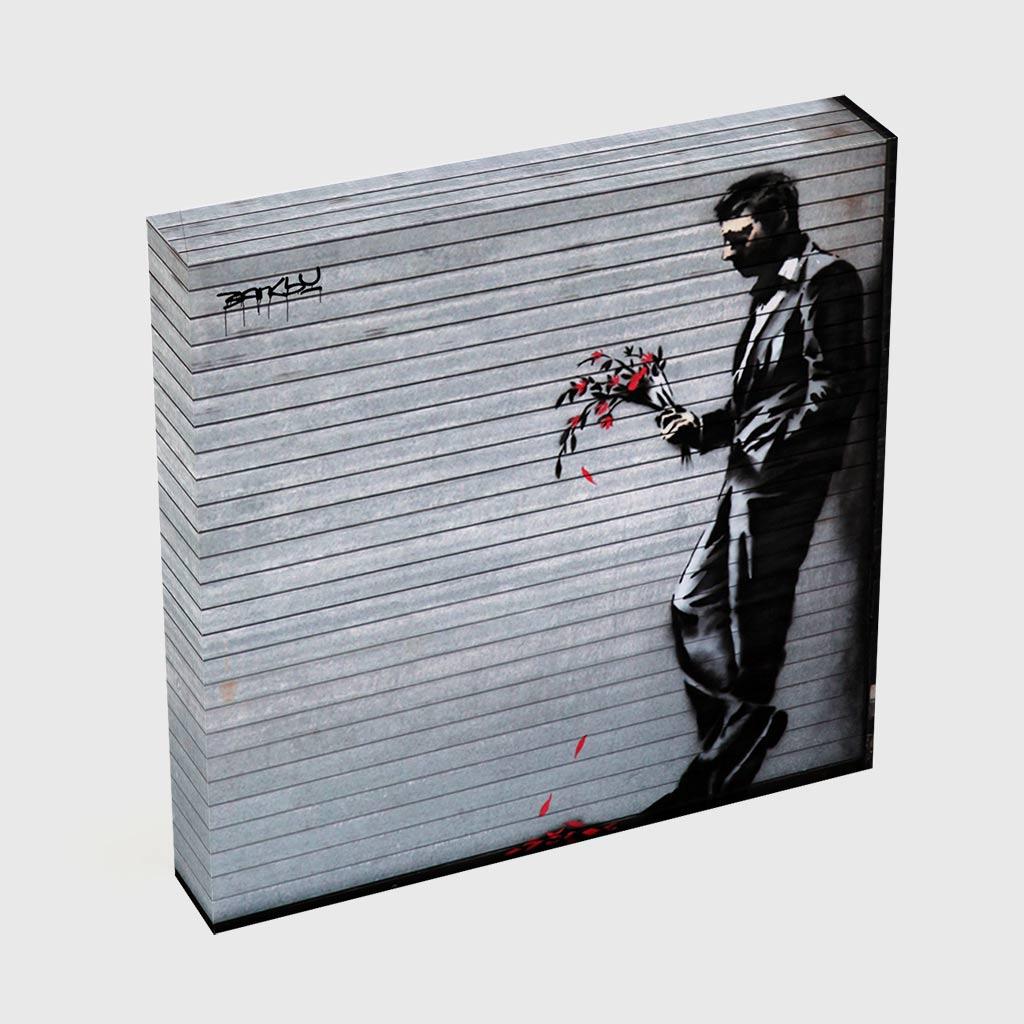 Quadro Quadrado - Man with Wilted Flowers