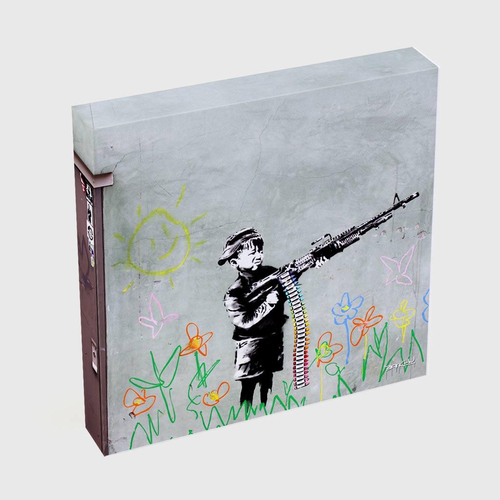 Quadro Quadrado - Crayon Gun