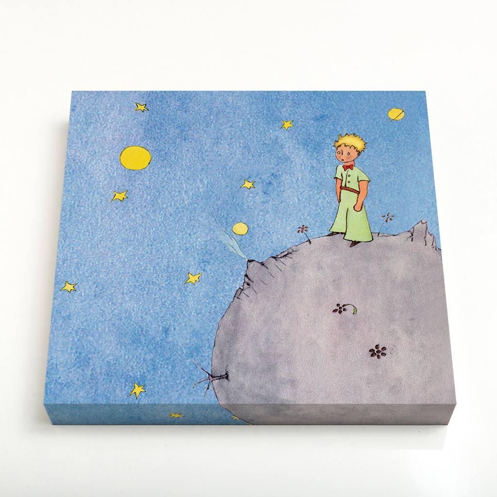 Quadro Quadrado - O Principezinho Sobre o Asteroide B612