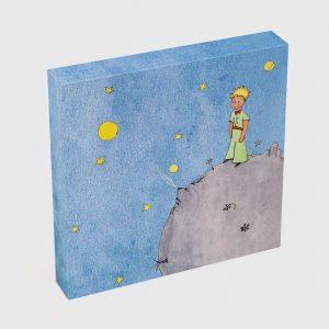 Quadro Quadrado – O Principezinho Sobre o Asteroide B612