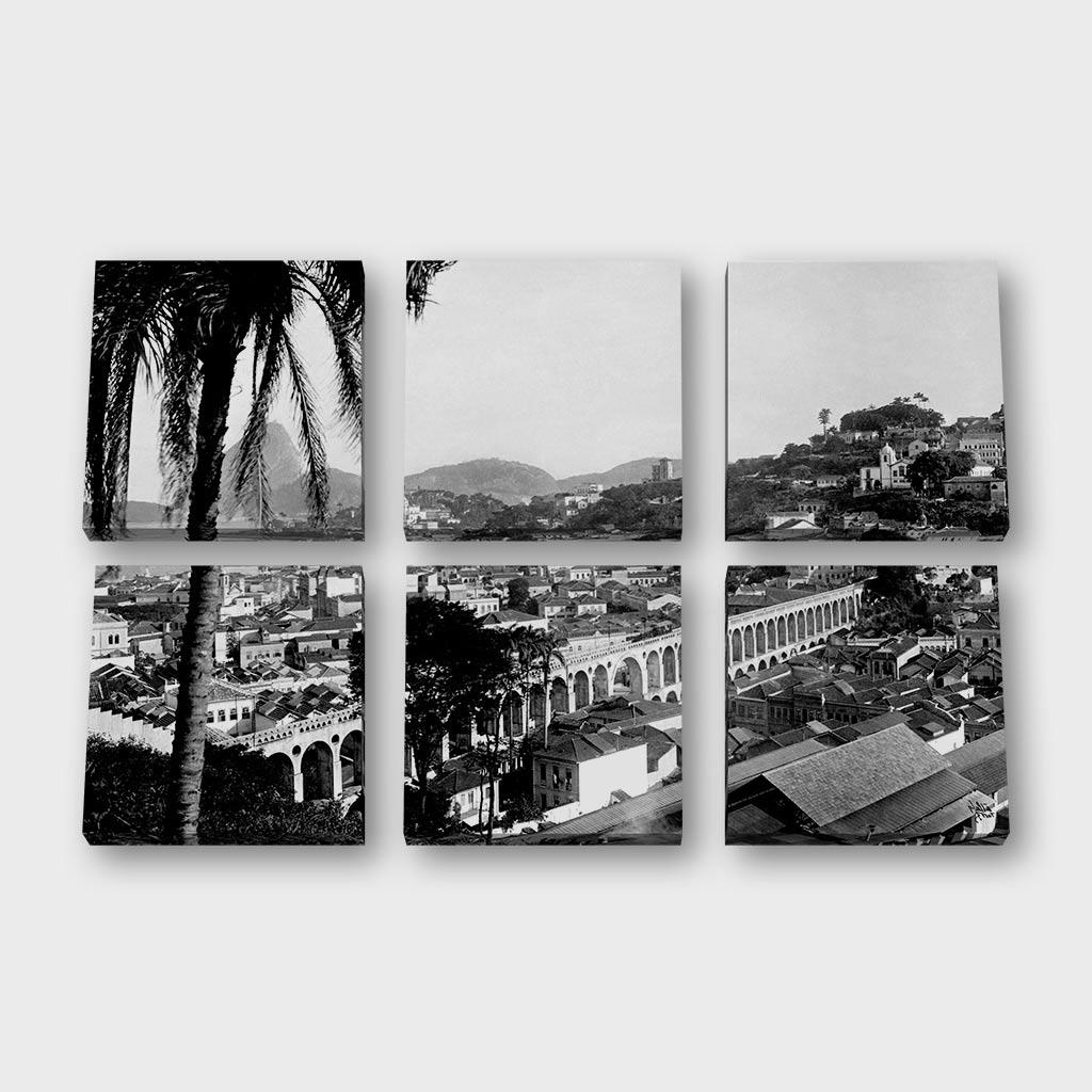 Quadro Quadrado Modular – Arcos da Lapa - Ano 1912