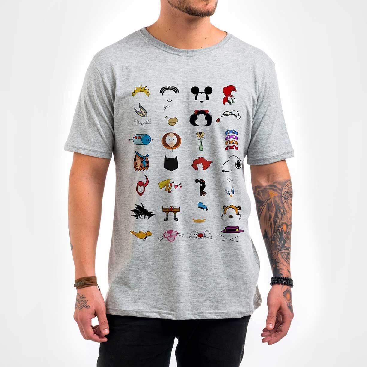 Camisa Masculina – Cartoons