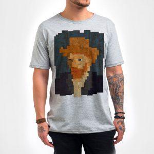 Camisa Masculina – Van Gogh 8 Bit