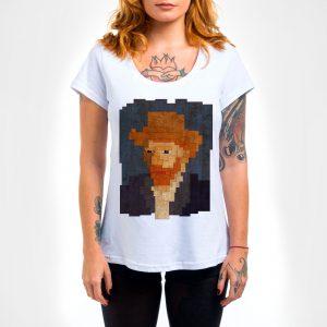 Camisa Feminina – Van Gogh 8 Bit