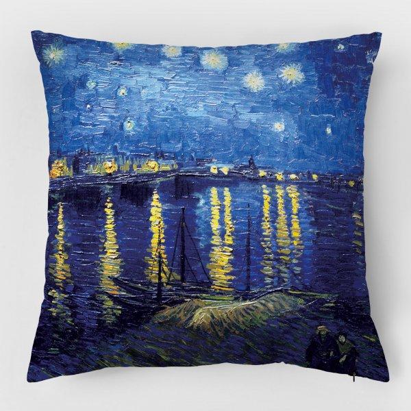 Almofada - A Noite Estrelada + Noite Estrelada Sobre o Ródano 4