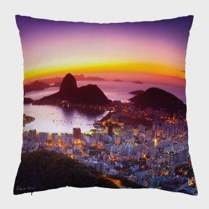 Almofada – Amanhecer no Rio de Janeiro com Pão de Açúcar II