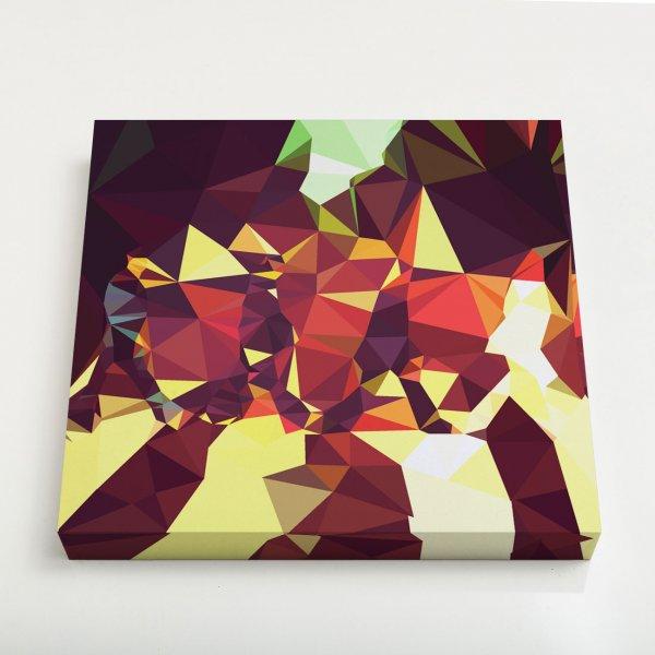Quadro Quadrado - Geometric Abbey Road 3