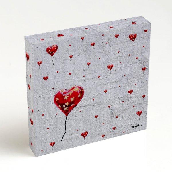 Quadro Quadrado - Broken Heart Balloon Pattern 4
