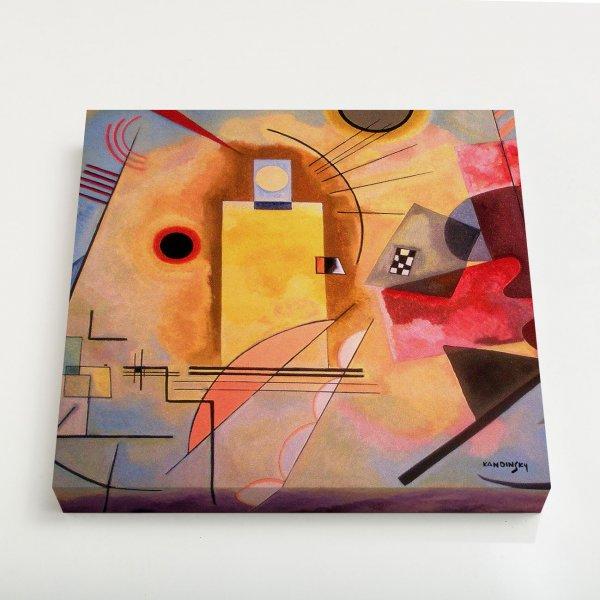 Quadro Quadrado - Amarelo-Vermelho-Azul 3