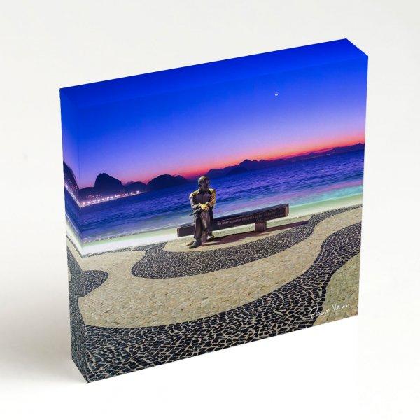 Quadro Quadrado - Amanhecer em Copacabana com Drummond III 4