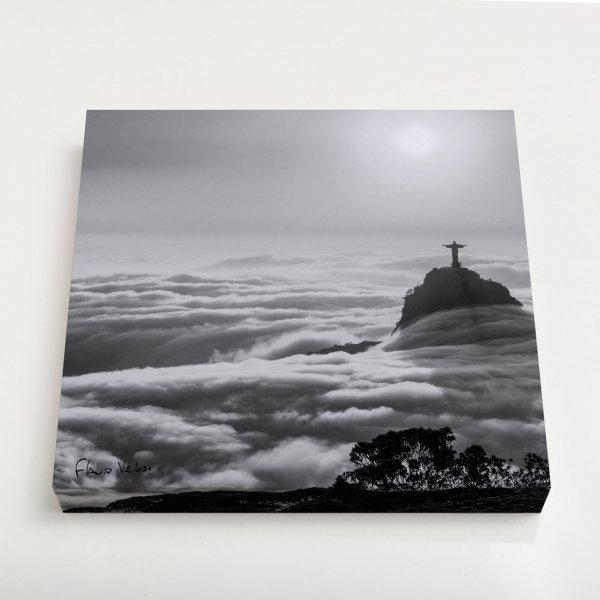 Quadro Canvas - Nascer do sol com nevueiro no Rio de Janeiro 3