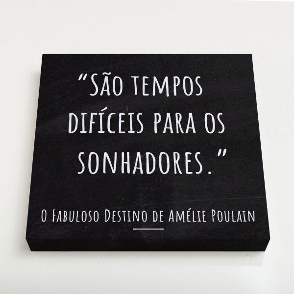 Quadro Canvas - Frase O Fabuloso Destino de Amélie Poulain 3