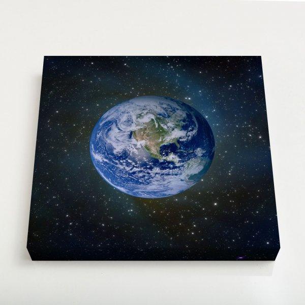 Quadro Quadrado - Planeta Terra 3