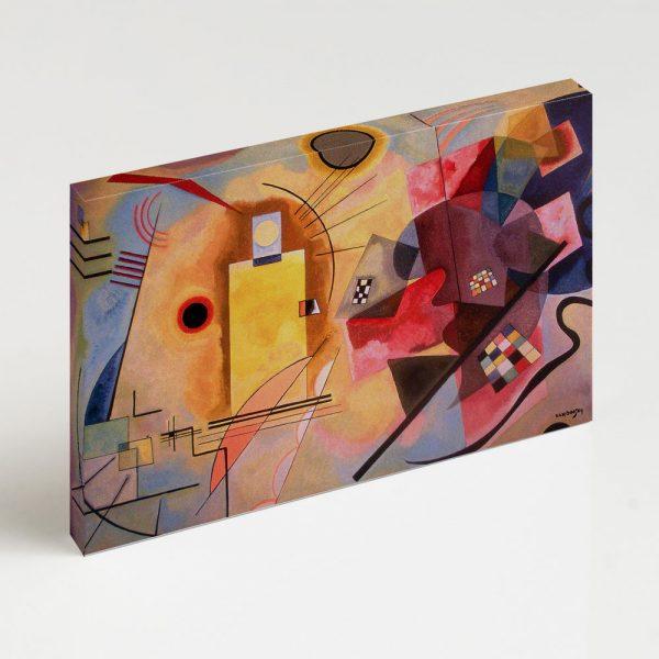 Quadro Canvas - Amarelo-Vermelho-Azul 6
