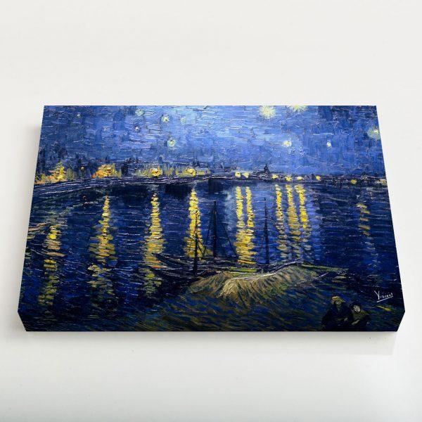Quadro Canvas - Noite Estrelada Sobre o Ródano 4