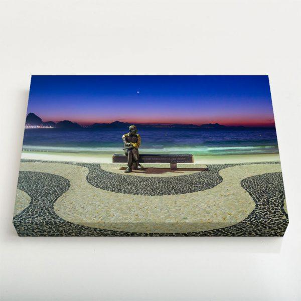 Quadro Canvas - Amanhecer em Copacabana com Drummond III 4