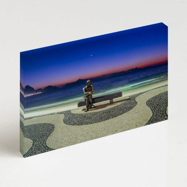 Quadro Canvas - Amanhecer em Copacabana com Drummond III 6