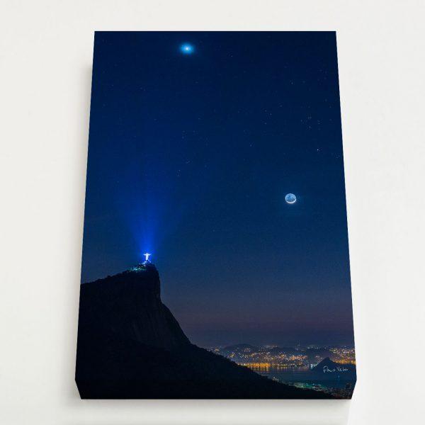 Quadro Canvas - Venus, Touro e Lua em luz Cinéria sobre o Rio de Janeiro 4
