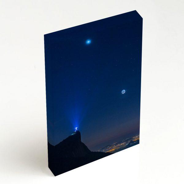 Quadro Canvas - Venus, Touro e Lua em luz Cinéria sobre o Rio de Janeiro 6